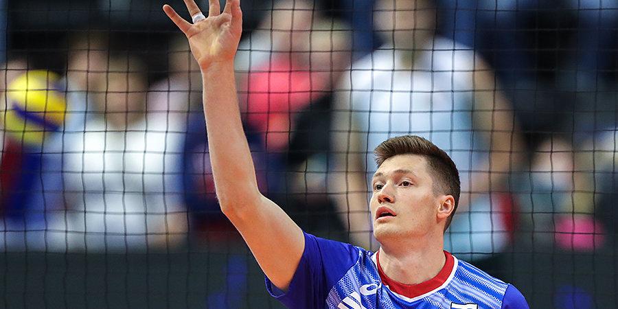 Российские волейболисты обыграли Болгарию в Лиге наций