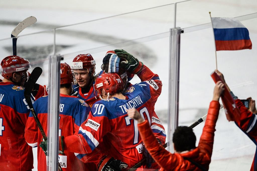 Выигрыш учехов принёс сборнойРФ победу вхоккейном Евротуре