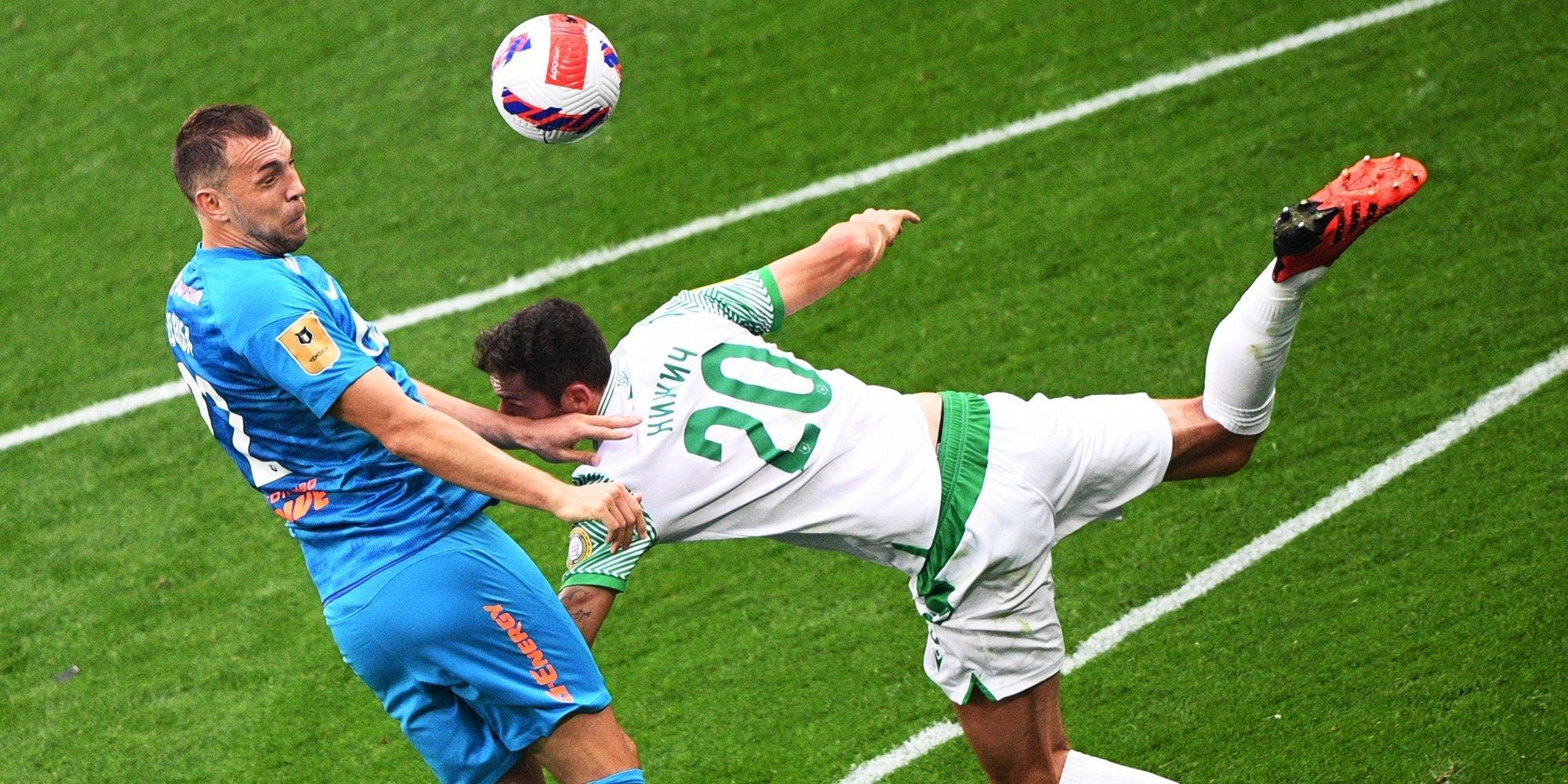 Две голевые передачи Дзюбы помогли «Зениту» победить «Ахмат» и вернуть лидерство в Тинькофф РПЛ