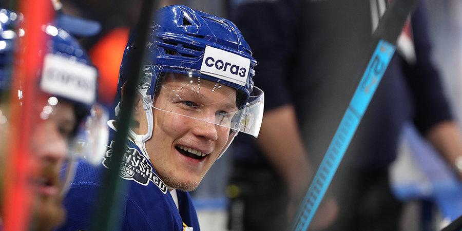 Сошников — лучший форвард недели в КХЛ, Саморуков — лучший новичок