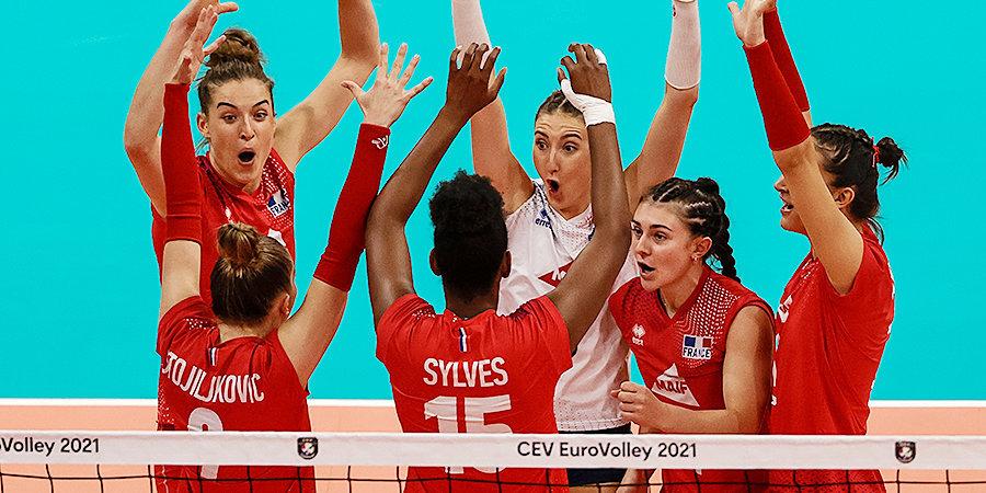 Франция победила Азербайджан на женском ЧЕ по волейболу