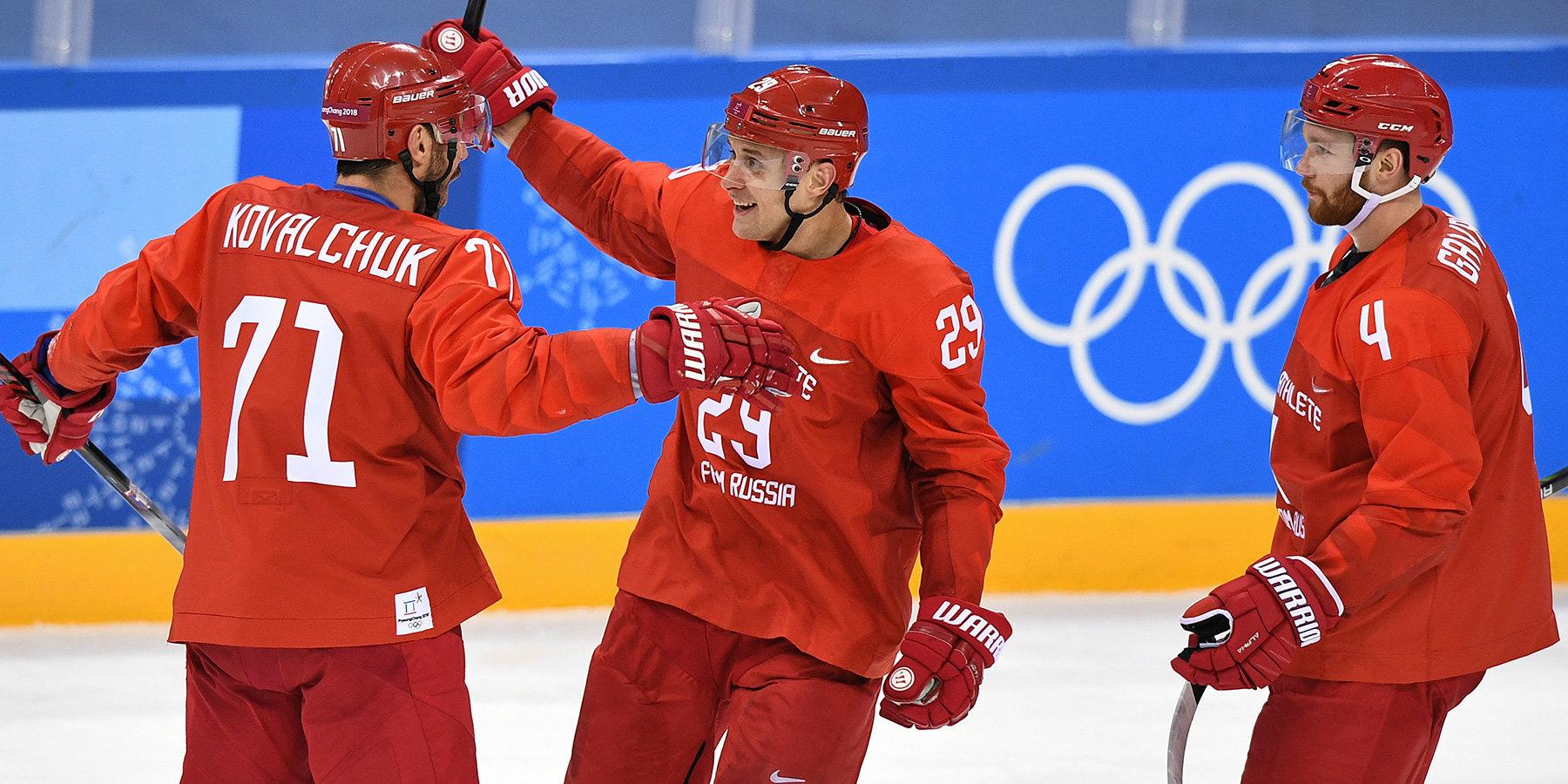 Сборная РФ похоккею разгромила команду Норвегии ивышла вполуфиналОИ
