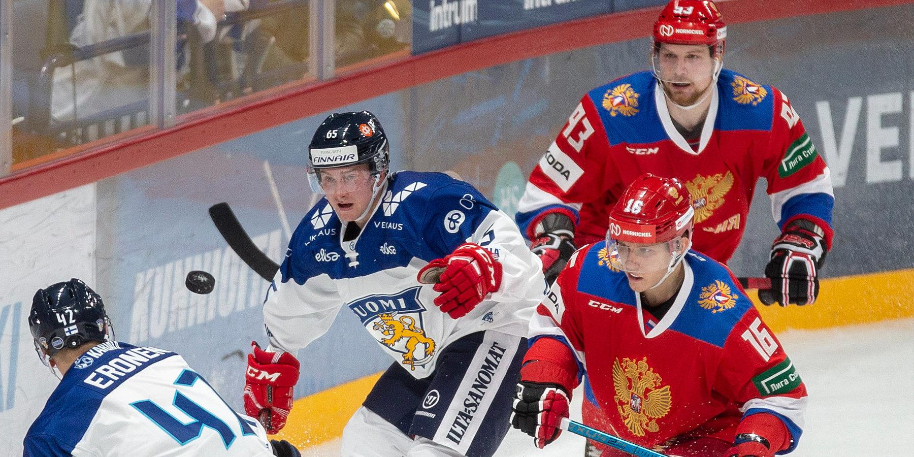 Россия без проблем обыграла Финляндию в первом матче Кубка Карьяла