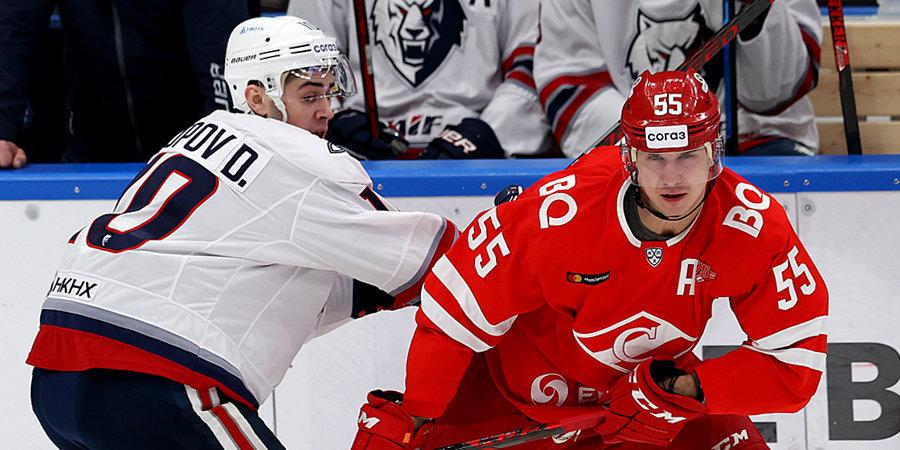 «Спартак» выиграл 6-й домашний матч у «Нефтехимика» подряд, «Динамо» победило «Барыс» в КХЛ
