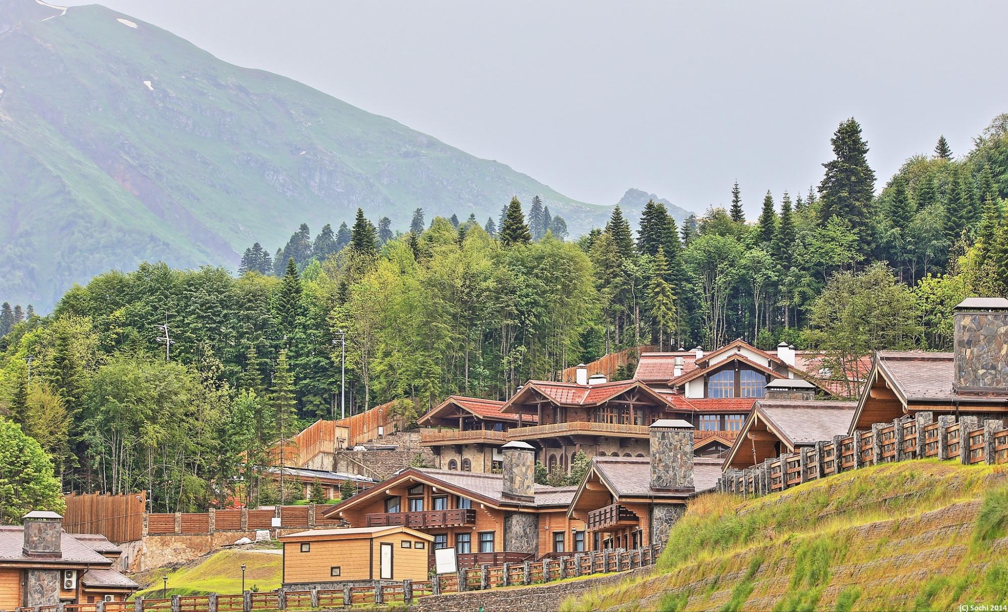 Горная олимпийская деревня в сочи фото только