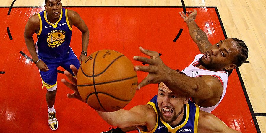 «Торонто» обыграл «Голден Стэйт Уорриорз» и стал чемпионом НБА