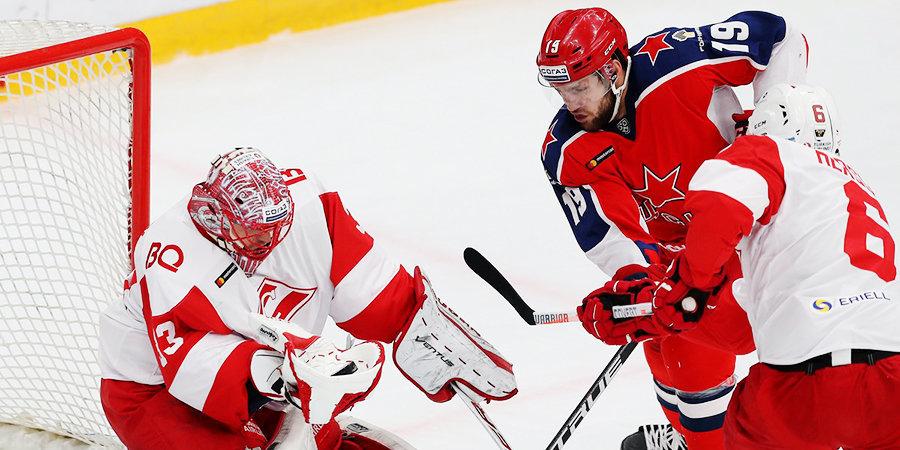 «Спартак» победил ЦСКА впервые за шесть лет и сравнялся по очкам со СКА