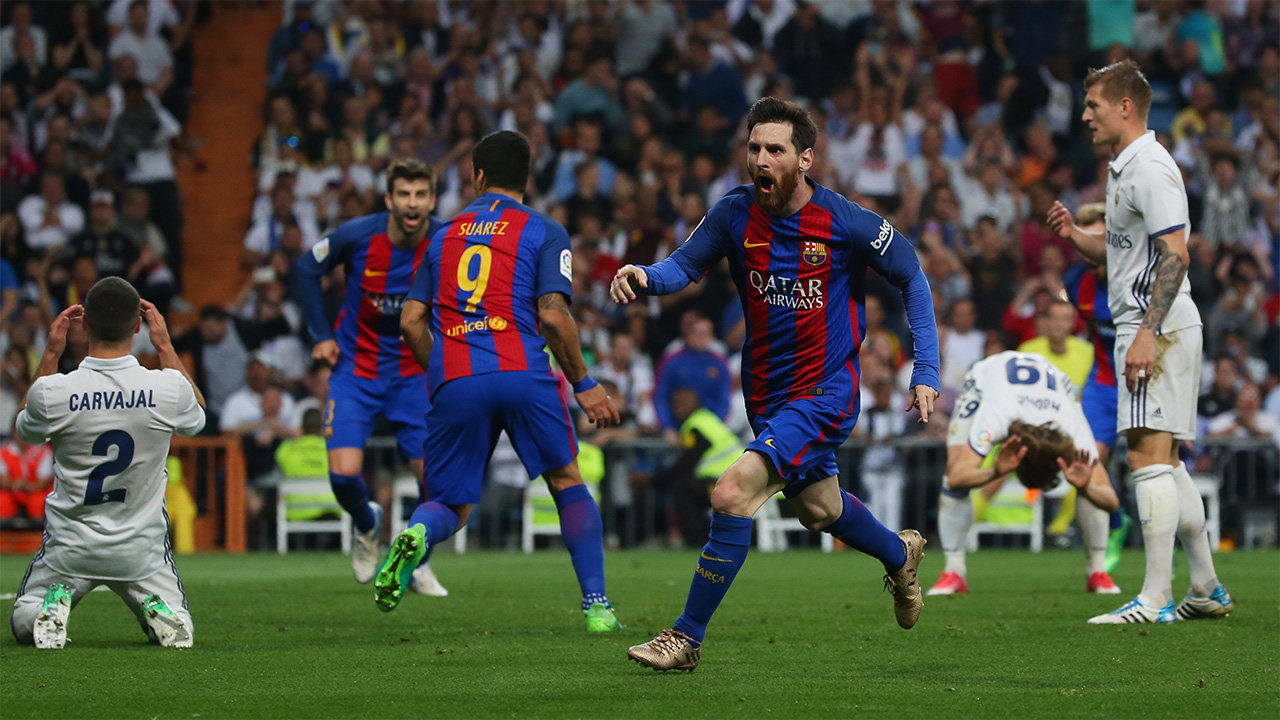 Месси стал лучшим бомбардиром матчей между «Реалом» и«Барселоной» вчемпионате Испании