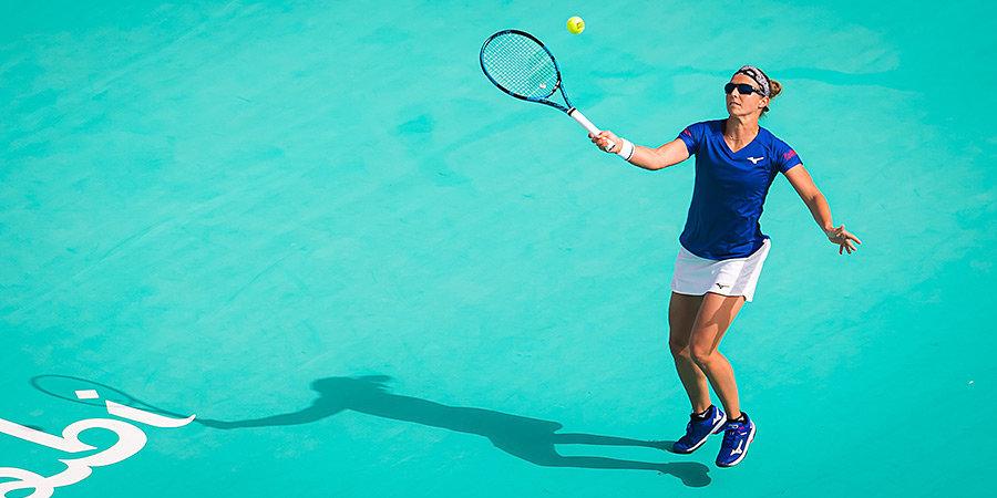 Теннисистка получила травму, наступив во время матча на рекламный щит с названием больницы, в которой она потом оказалась
