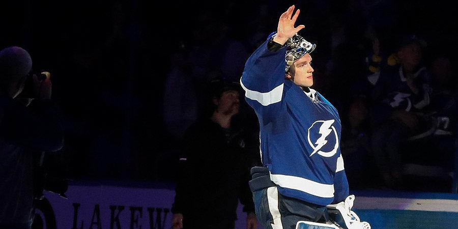 «Тампа» обыграла «Детройт» в НХЛ, Василевский отразил 25 бросков