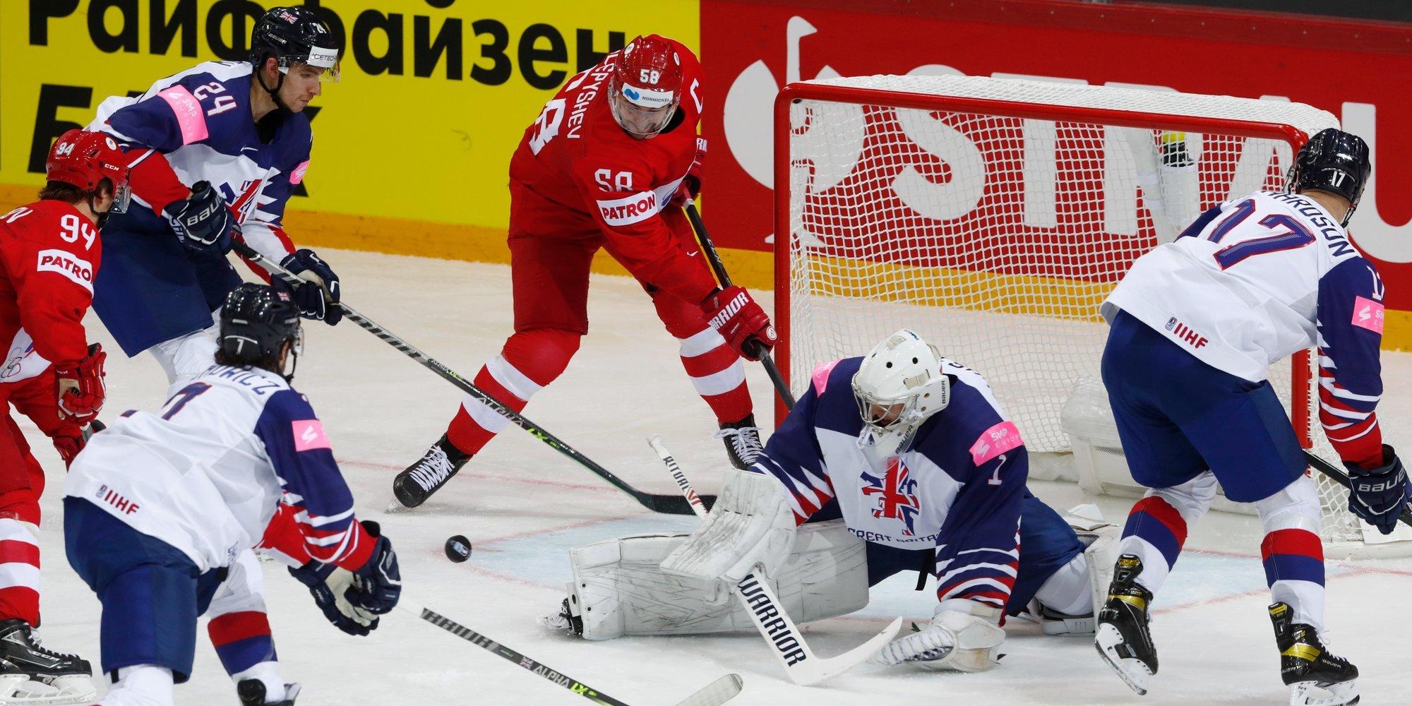 Дубль Бурдасова помог России разгромить Великобританию на чемпионате мира