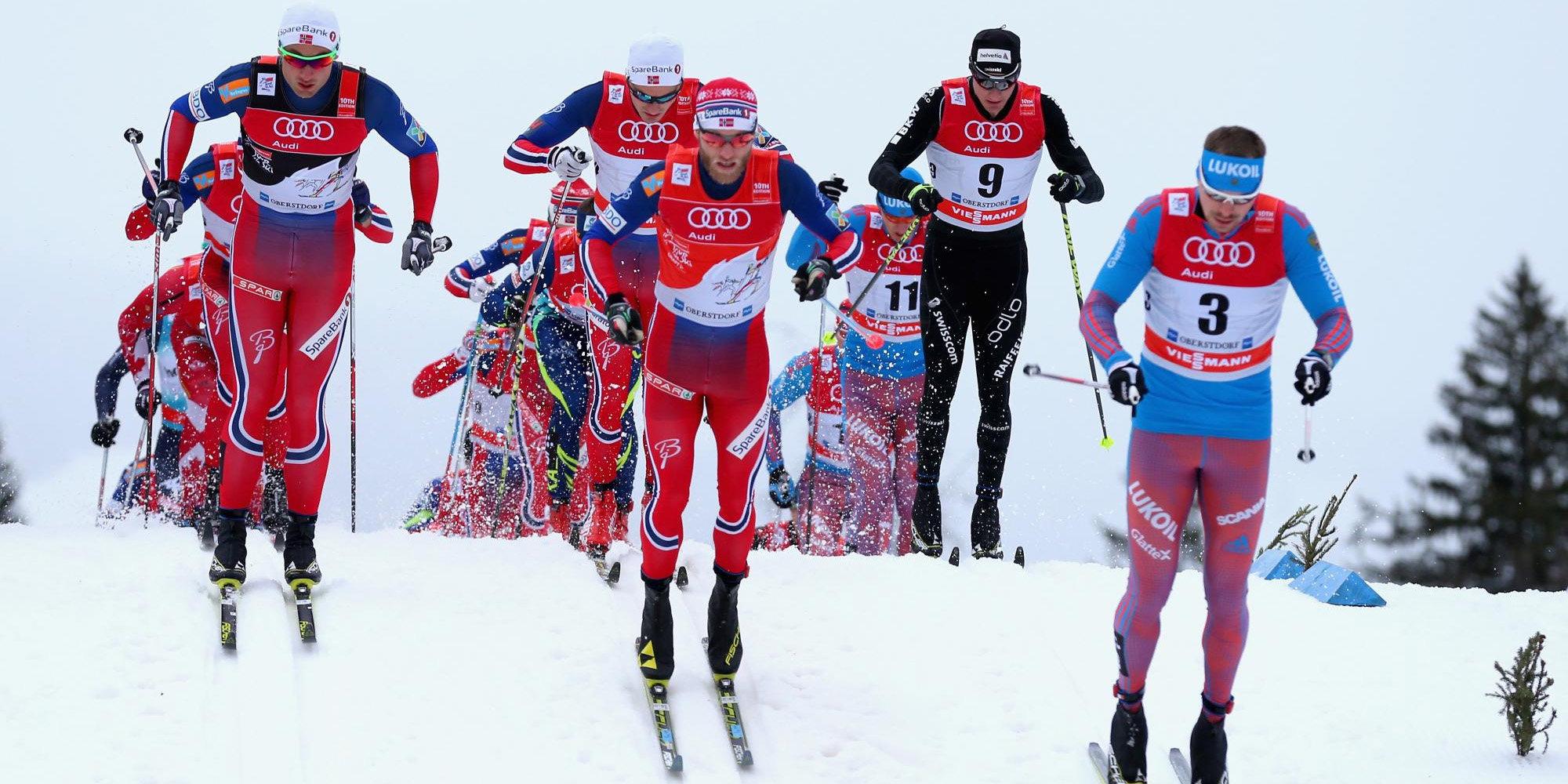 Остберг иИверсен выиграли масс-старт вОберстдорфе— Тур деСки