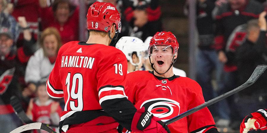 Российский форвард «Каролины» — в числе лидеров НХЛ по голевым передачам