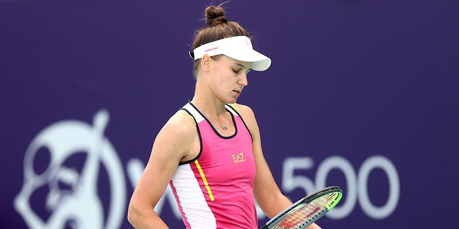 Кудерметова проиграла Соболенко в финале турнира в Абу-Даби