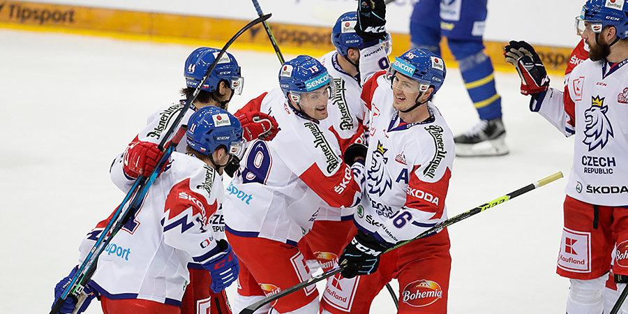 Чехия в овертайме обыграла Швецию в матче Евротура