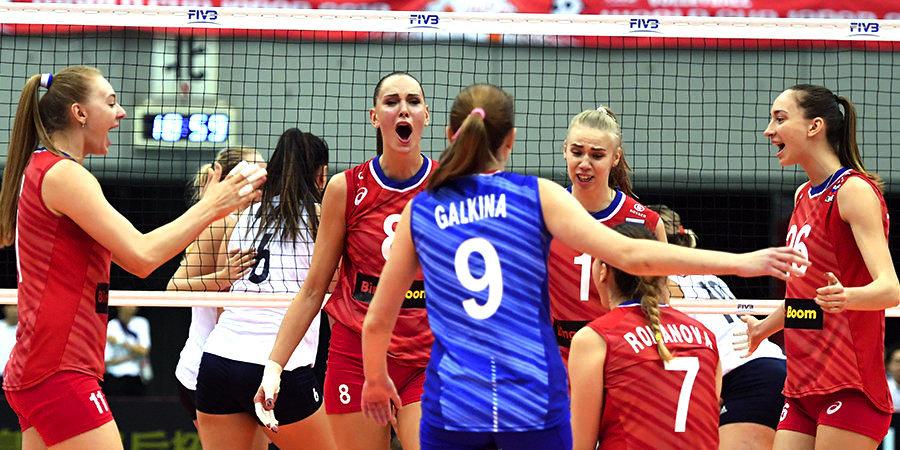 Российские волейболистки обыграли Канаду в Лиге наций