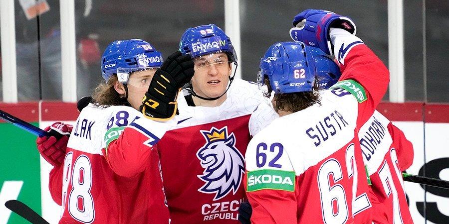 Чехия забила семь шайб в ворота словаков на ЧМ, сборная США переиграла Италию
