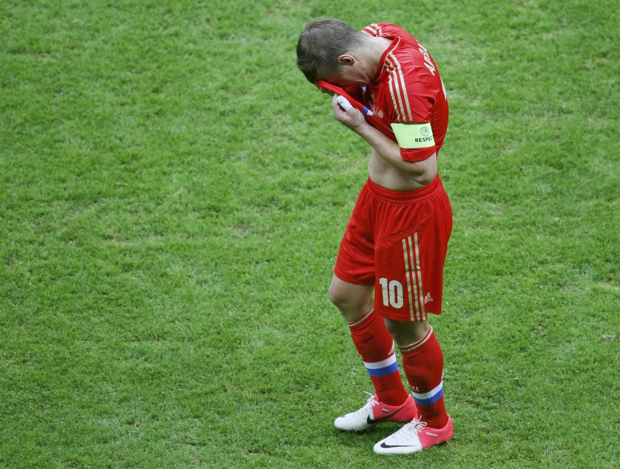 того чтобы фото провалов в футболе россии распространен
