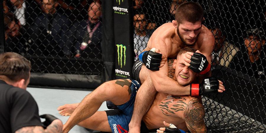Нурмагомедов победил Порье удушающим приемом и сохранил титул чемпиона UFC