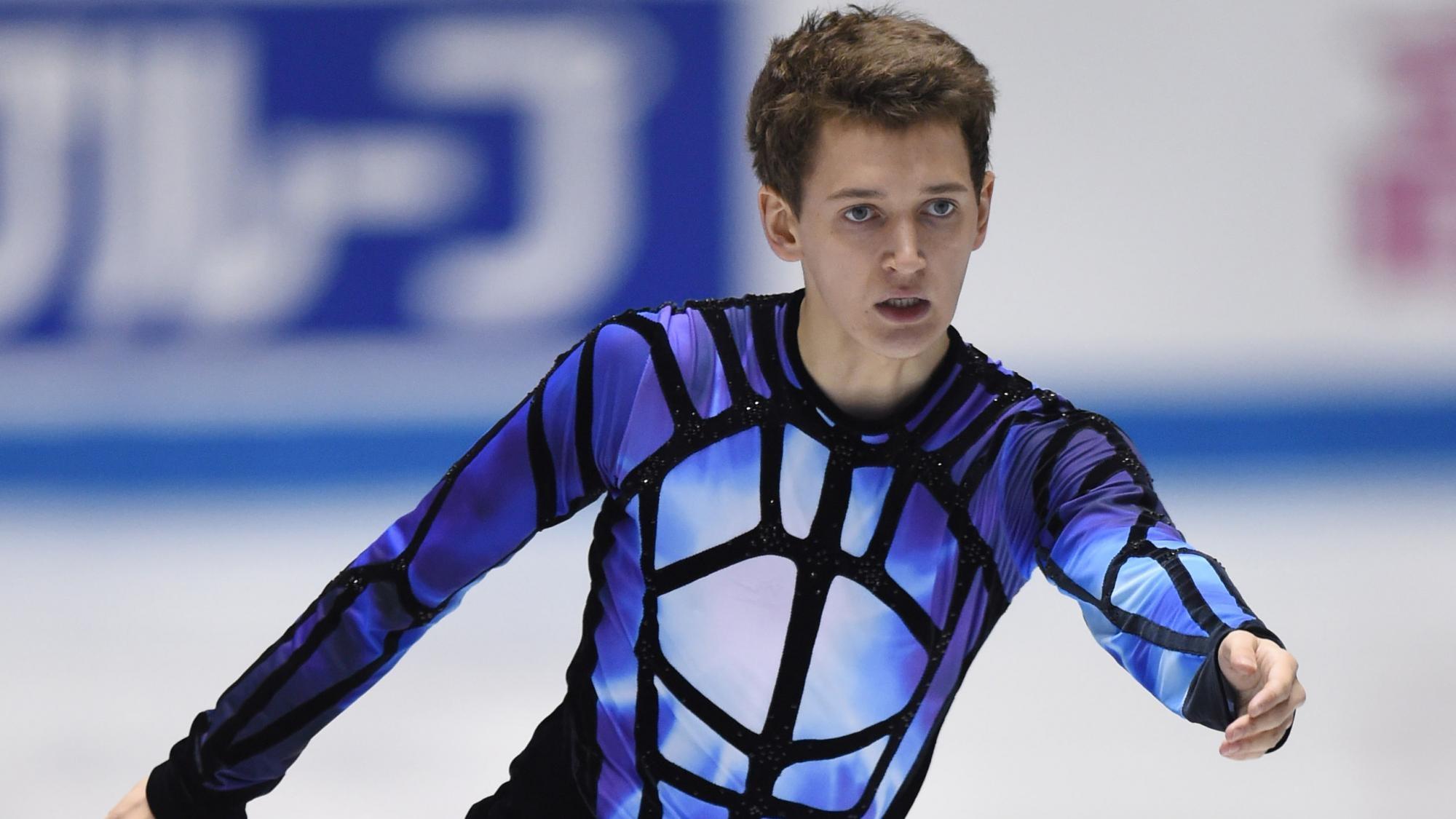 Русский фигурист Максим Ковтун занял второе место после короткой программы наЧЕ