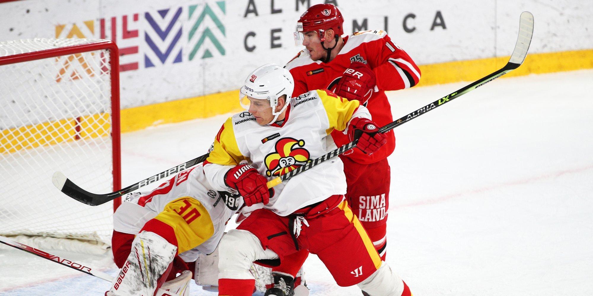 «Автомобилист» победил «Йокерит» в матче КХЛ