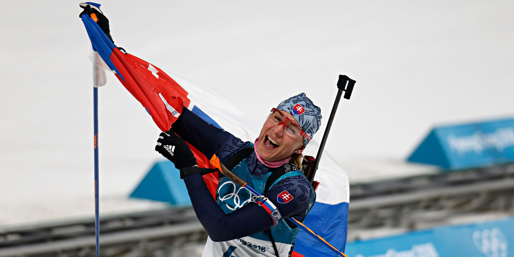 Дарья Домрачева выиграла гонку преследования наэтапе Кубка мира вХолменколлене