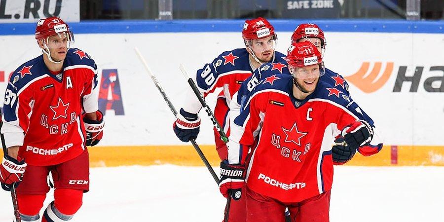 ЦСКА забросил семь безответных шайб «Сочи», «Спартак» победил «Витязь»