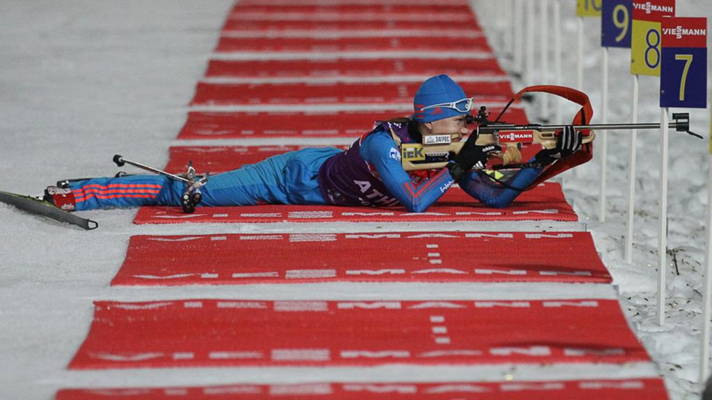 Русская биатлонистка Загоруйко стала первой вспринте наэтапе Кубка IBU