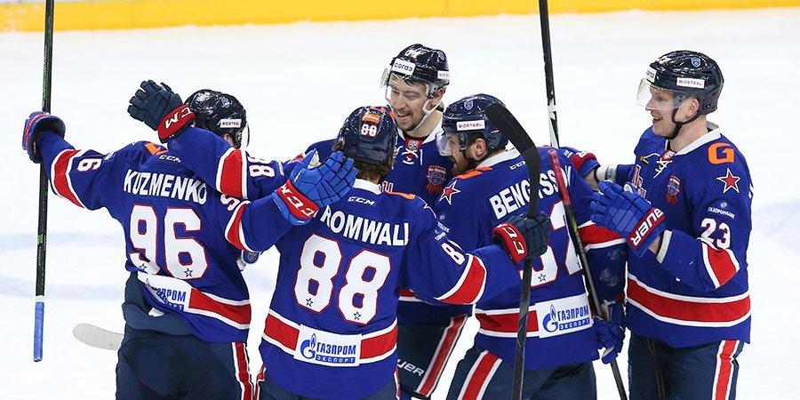 ЦСКА во второй раз в сезоне победил СКА. Петербуржцы потерпели 4-е поражение подряд
